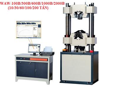 Máy kiểm tra độ bền kéo WAW-600B/1000B (60 tấn/100 tấn, thủy lực, kết nối máy tính,máy in)