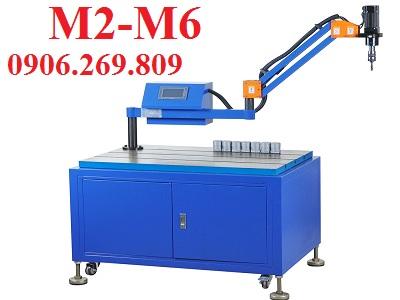 Máy tarô cần chạy điện MINI ZH-D101S (M2-M6; Cần dài 1200mm; Đầu tarô vuông góc cố định; Động cơ Servo)