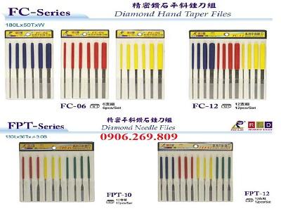Bộ dũa tay kim cương FC-06.FC-12.TPF-10.FPT-12 (Rex-Lee, Đài Loan)