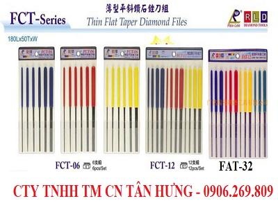Bộ dũa kim cương mỏng FCT-06.FCT-12.FAT-12 (Rex-Lee, Đài Loan)