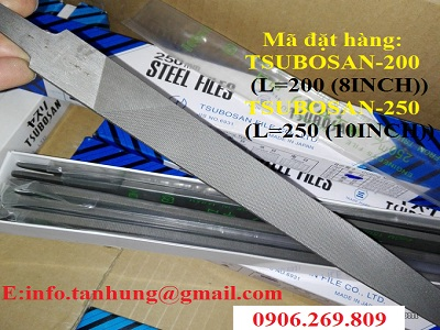 Dũa kim loại cầm tay TSUBOSAN-200; TSUBOSAN-250 (Dũa nguội Nhật Bản)