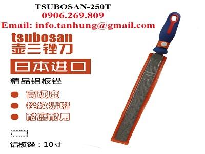 Dũa kim loại cầm tay răng thô TSUBOSAN-250 (Dũa nguội răng thô) (TSUBOSAN - Nhật Bản)