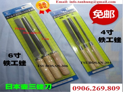 Bộ dũa kim loại cầm tay cán gỗ TSUBOSAN-304; TSUBOSAN-306 (TSUBOSAN - Nhật Bản)