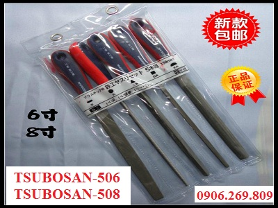 Bộ dũa kim loại cầm tay cán nhựa TSUBOSAN-506; TSUBOSAN-508 (TSUBOSAN - Nhật Bản)